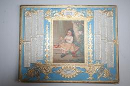 Almanach Des Postes  - 1877  ( Chromo Fillette  - Dorures  En Relief  ) - Calendars