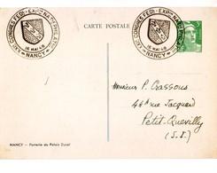 1 P 3 F Gandon Repiquage Expo Philatélique Nancy 1948 Très Bel état - Cartes Postales Types Et TSC (avant 1995)