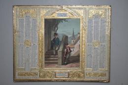 Almanach Des Postes  - 1879   ( Chromo  Enfants  - Dorures  En Relief  ) - Calendriers