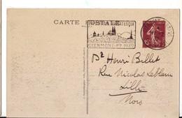5 P 15 C Semeuse Repiquage Expo Philatélique Clermont Ferrand 1932 Très Bel état - Cartes Postales Types Et TSC (avant 1995)