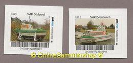 BRD -  Privatpost - Biberpost -  Seenotrettungskruezer SAR Südperl , SAR Dornbusch - Privatpost