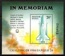 "HONGRIE. BF 184 De 1986. Navette ""Challenger"". - Space"