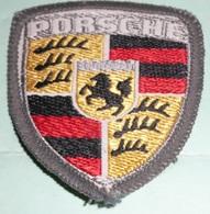 Rare écusson En Tissu Brodé, Patch, Porsche Stuttgart, Armoiries - Ecussons Tissu
