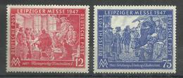 Allierte Besetzungen Gemeinschaftsausgaben 965/966a, Leipziger Herbstmesse 47, Satz Kpl. Postfrisch  Mi.: 1,'20. - Zone AAS