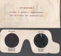 Lorgnon Pour Vision En Relief ( Pour Anaglyphes) (PPP16177) - Vieux Papiers