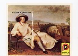 Sao Tome-1981-J.W.Von Goethe-Philatélia 81-Bloc Dentelé-B57***mnh- - Sao Tome Et Principe