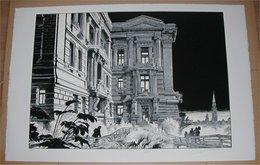 Schuiten Fragments De Bruxelles Le Palais Sur La Forêt N/S 5/15 - Screen Printing & Direct Lithography