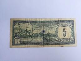 ANTILLE OLANDESI 5 GULDEN 1984 - Antille Olandesi (...-1986)