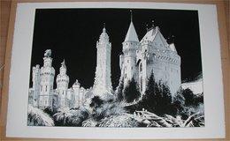 Schuiten Fragments De Bruxelles Les Tours Envahies 4/15 - Screen Printing & Direct Lithography
