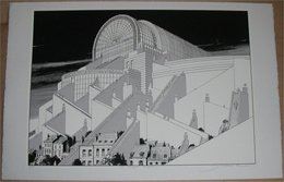 F. Schuiten Fragments De Bruxelles: Le Temple Européen 6/15 - Screen Printing & Direct Lithography