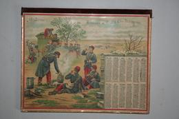 Almanach Des Postes  - 1897   (Illustration  Militaires  - Eugène Chapron   - Le Café - Calendars