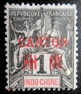 1901 France (ex-colonies & Protectorats) > Canton Yt:FR-CAN 1, Mi:FR-IC B1I . Neuf Charnière Petit Accroc Pied - Canton (1901-1922)