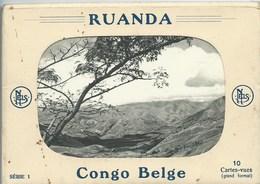 CARNET DE 10 CPA ALBUM SOUVENIR RUANDA CONGO BELGE SERIE 1 PHOTO J V LEROY RWANKWI RUTSHURU - Ruanda-Urundi