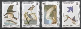 Bermuda 1985 Mi# 454-57** BIRDS, AUDUBON BIRTH BICENTENARY - Bermudes