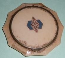 Rare Ancien Poudrier En Bakélite Art Déco, Miroir De Poche, Sac à Main, Poudre Fond Teint - Accessories