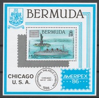 Bermuda 1986 Mi# Bl.6** AMERIPEX '86 PHILATELIC EXHIBITION, STATUE OF LIBERTY CENTENARY - Bermudes
