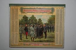 Almanach Des Postes  - 1918   (   Illustration Militaires - Décoration D'Aviateurs ) - Calendriers