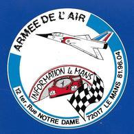 A.C. INFORMATION Le MANS ARMEE De L'AIR - Autocollants