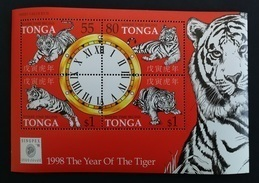 Tonga 1998** Bl.32. Year Of The Tiger [19;183] - Astrologie