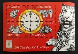Niuafo'ou 1998** Bl.21. Year Of The Tiger [19;167] - Astrologie