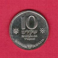 ISRAEL   10 SHEQALIM 1984 YEAR 5744  (KM # 134) #5175 - Israel