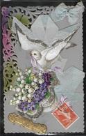 CPA FANTAISIES - Carte Celluloïd Heureux Anniversaire - Anniversaire