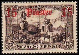 1905 - 1913. 15 Piaster 15 3 MARK DEUTSCHES REICH. (Michel 46) - JF309206 - Bureau: Turquie