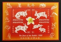 Niuafo'ou 1999** Bl.22. Year Of The Rabbit [19;168] - Astrologie