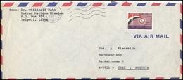 Libya Postal History Cover LY 001 Air Mail Tripoli International Fair - Timbres