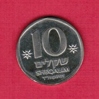 ISRAEL   10 SHEQALIM 1984 YEAR 5744  (KM # 137) #5176 - Israel