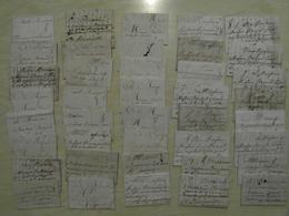 LOT De 40 LETTRES ANCIENNES 18e (ARCHIVE COMMERCIALE) De PARIS POUR BRIGNOLLES BRIGNOLES VAR MARCHAND MAROQUIN - Marcofilie (Brieven)