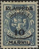 Memelgebiet 124 Avec Charnière 1922 Klaipeda - Klaipeda