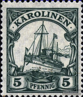 Carolines (German.Colony) A21 Tested With Hinge 1919 Imperial Yacht - Colony: Caroline Islands