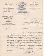 01 NANTUA Ain COURRIER 1926  Assurances Compagnie Du PHENIX    Agent Samuel PONCET    A95 - Bank & Insurance