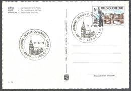 Cob 1872 Oblitèration Illustrée  S/CP Liège La Passerelle Et La Poste - Lettres & Documents