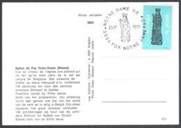 Cob 1954 Oblitèration Illustrée  S/CP Dinant. Eglise  De Foy Notre-Dame - Storia Postale