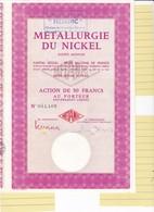 Th3LOT (2 Titres) : METALLURGIE DU NICKEL - Action De 50 Frs (02) - Actions & Titres