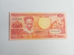 SURINAME 10 GULDEN 1986 - Surinam