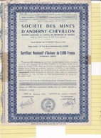Th3MINES : ANDERNY-CHEVILLON - Certificat1955 (04) - Actions & Titres