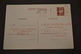 Lettre BORDEAUX RP 23/12/1942 FLIER Bon De Solidarité Correspondance Marchandise Perdu Par Chemin De Fer En 1940 - Marcophilie (Lettres)