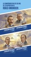 NIGER 2018 MNH** Roald Amundsen M/S - OFFICIAL ISSUE - DH1815 - Explorateurs & Célébrités Polaires