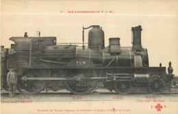 Cie P.L.M. - Machine  Pour Trains Express  - Les Locomotives  , Ed. Fleury - 2 Scans - Equipment