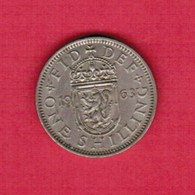 GREAT BRITAIN   1 SHILLING 1963  (KM # 904) #5182 - 1902-1971 : Post-Victorian Coins