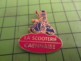 115a Pin's Pins /  Belle Qualité Et Rare / THEME MOTOS : SCOOTER LA SCOOTERIE CAENNAISE Par BALLARD - Motorbikes