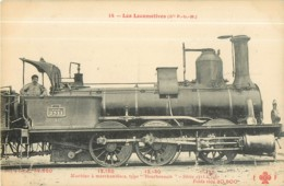 Cie P.L.M. - Machine  Type Bourbon Pour Trains De Marchandises - Les Locomotives  , Ed. Fleury - 2 Scans - Equipment