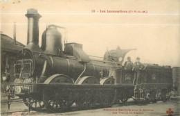 Cie P.L.M. - Machine  Ancienne Locomotive  Pour Service Trains De Ballast - Les Locomotives  , Ed. Fleury - 2 Scans - Equipment