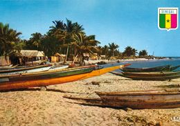 1 AK Senegal * Fischerboote Am Strand Von Joal - Heute Joal-Fadiouth - IRIS Karte Nummer 6507 * - Senegal