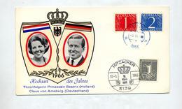 Carte Mariage  Beatrix Amsberg Cachet ? + Hitzacker - Period 1949-1980 (Juliana)