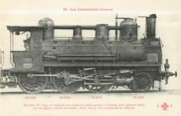 Cie ORLEANS - Machine 1825 Pour Trains Service Mixte - Les Locomotives  , Ed. Fleury - 2 Scans - Zubehör