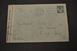 Lettre PARIS RP 13/12/1939 Pour L'ile Aux Moines Censuré FLIER L'aviation - Marcophilie (Lettres)